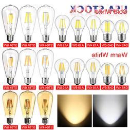 1/4/6 E26 110V Vintage LED Edison Bulb COB Filament Dimmable