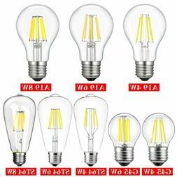 1/4/6 Pack 4W 6W 8W LED Bulb COB Edison Filament Light Dimma