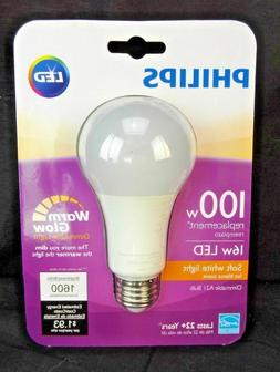 1 Philips LED Light Bulb 100W Equivalent A21 2700K Soft Whit