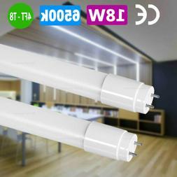 10-100 Pack 18W T8 LED Light 4ft Fluorescent Bulb Bright Whi