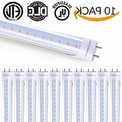 10 Pack - T8 LED Tube Light 4ft 48'',18W,5000K , 2,000 Lumen