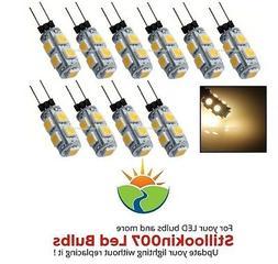 10 - Low Voltage Landscape G4 LED bulbs WARM WHITE 9LED's pe