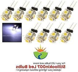 10 - G4 Low Voltage Landscape Light LED conversion 5 Cool Wh