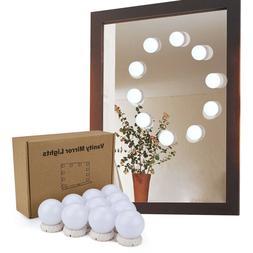 10 LED Portable Vanity Mirror Studio Glow Make Up Bright Cos