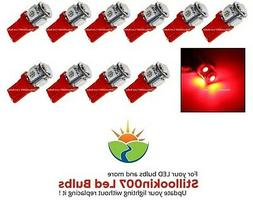 10 - Low Voltage Landscape T5 LED bulbs RED 5LED's per bulb