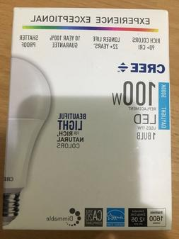 Cree 100W Equivalent Daylight  A21 Dimmable LED Light Bulb