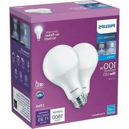 Philips 100W Equivalent Daylight A21 Medium Dimmable LED Lig