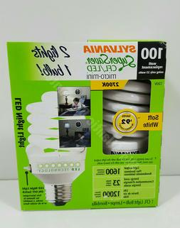 Sylvania 100w Light Bulb with LED Night Light 1600 Lumens 27