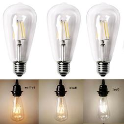 2019 Vintage Retro Edison E27 2W 6W 8W Screw LED Filament Bu