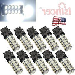 10PCS 6000K 3157 68 SMD LED TAIL/BRAKE/STOP LIGHT BULBS T25