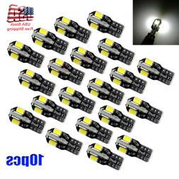 10pcs Canbus T10 194 192 168 W5W 5730 8 LED SMD White Car Si