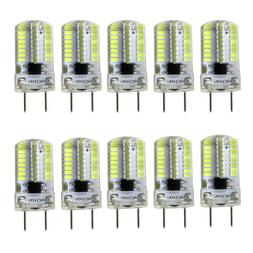 10pcs G8 Bi-Pin T5 64 3014 SMD LED Light Bulb Dimmable Lamp