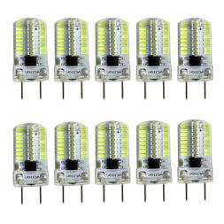 10pcs G8 Bi-Pin T5 Lights 64 3014 LED Light Bulb Dimmable La
