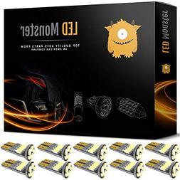 LED Monster 10pcs T10 Wedge Best Value Super Bright High Pow