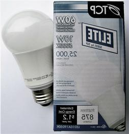 TCP 10W A-19 Dimmable 5000K Bright White LED Light Bulb 60W