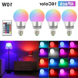 10W E26 RGB LED Light Bulb Multi Color Changing Magic Memory