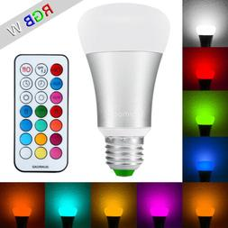 10W EQ A19 Dimmable Color Changing Smart Remote Control LED
