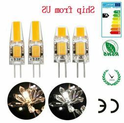 10X G4 5W 6W AC DC 12V LED COB Mini Crystal Bulb Light Repla