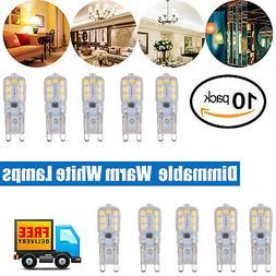 10X LED Bulbs G4 Base 1.5W Small Capsule Bulbs Warm White Li