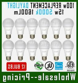 12 Bulbs Maxlite 15W LED Light Bulb Daylight 5000K A19 E26 B