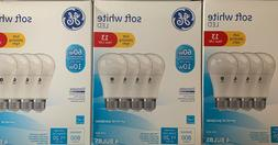 12 BULBS - GE LED Soft White Dimmable 60 Watt Equivalent A19