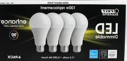12 FEIT Electric LED 100w watt light bulbs 3000K Bright Whit