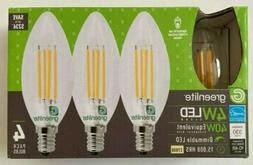 💡 4 Pk Dimmable LED Candelabra Base Bulb E12 Soft White 4