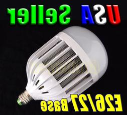 120V - 240V AC 36W Cool Pure White LED E26/27 E39/40 MOGUL B