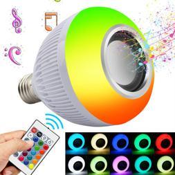 12W RGB+White Smart LED Light Bulb E27 Color Bluetooth Music