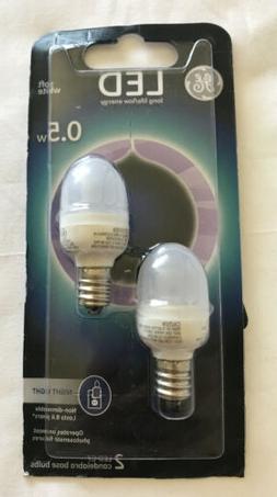 GE Lighting 14150 C7 LED Night Light Bulb with Candelabra Ba