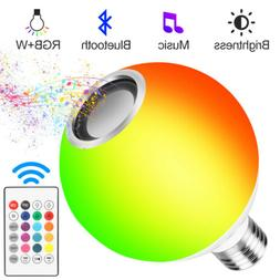 15W RGB+White E27 Smart LED Light Bulb Color Bluetooth Music