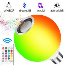 15W RGB+White E27 Smart LED Light Bulb Color Bluetooth Music