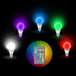 E27 3W RGB LED 16 Multi Color Magic Lamp Light Bulb + Wirele