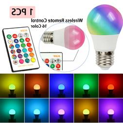 16 Color Changing Magic Light E27 RGB LED Lamp Bulb with Wir