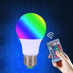 16 Colors Changing E27 RGB 9W magic LED Lamp Light Bulb + IR