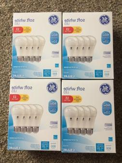 16 PACK GE LED 60W - 10 W Soft White 60 Watt Equ. A19 2700K