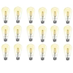 18 Pack ST64 Edison LED Filament Bulb 4W 2500K Warm White 35