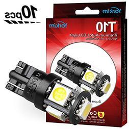 Yorkim 194 LED Bulbs Xenon White 6000k Super Bright Newest 5