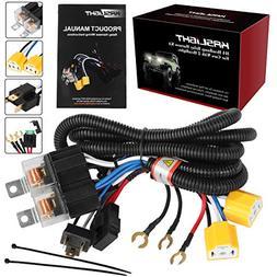 1set 2 headlight harness h4 headlight relay harness. Black Bedroom Furniture Sets. Home Design Ideas