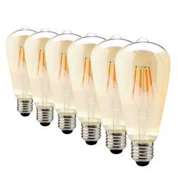 1x 4x 6x Edison Vintage LED Bulb E26 Antique Dimmable Filame