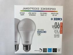 2 PACK CREE LED 60W = 10W Soft White DIMMABLE 60 Watt Equiva