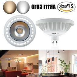 2-Pack LED AR111 GU10 COB Leds Reflector Bulb AC 85-265V 100