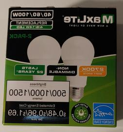 Maxlite 2 Pack LED Bulb 3 Way 40 60 100W - Replacement  -  S