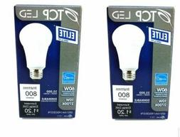 2 Pack TCP LED Elite 60W Light Bulbs Dimmable 25,000 Hours 8