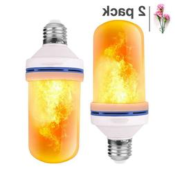 LED Flame Effect Light Bulb 2Pack 4 Modes Flame Light Bulbs