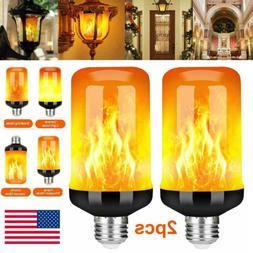 2 PACK LED Flicker E27 Flame Light Bulbs Simulated Nature Fi