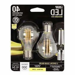 2-Pack LED INTERMEDIATE BASE E17 Soft White DIMMABLE 40W Equ