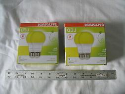 Sylvania 2-pk Yellow LED Bug Light Bulb 60w Equivalent  A19