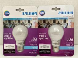 2 Philips Scene Switch LED Light Bulb - 3 Light Settings - 6