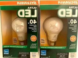 2-SYLVANIA Ultra LED Soft White A19 Bulb 5.5 Watt  Indoor/Ou